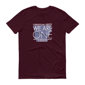 "(MAROON) CHRISTIAN UNITY ""WE ARE ONE"" UNISEX LIGHTWEIGHT T-SHIRT [ARKANSAS]"
