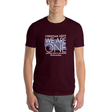 "Load image into Gallery viewer, (MAROON) CHRISTIAN UNITY ""WE ARE ONE"" UNISEX LIGHTWEIGHT T-SHIRT [NEBRASKA]"