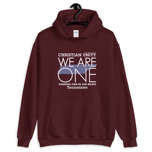 "(MAROON) CHRISTIAN UNITY ""WE ARE ONE"" UNISEX HEAVY BLEND HOODIE [TENNESSEE]"