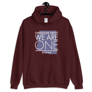 "(MAROON) CHRISTIAN UNITY ""WE ARE ONE"" UNISEX HEAVY BLEND HOODIE [ARIZONA]"