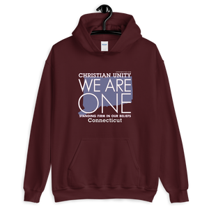 "(MAROON) CHRISTIAN UNITY ""WE ARE ONE"" UNISEX HEAVY BLEND HOODIE [CONNECTICUT]"