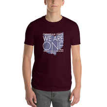 "Load image into Gallery viewer, (MAROON) CHRISTIAN UNITY ""WE ARE ONE"" UNISEX LIGHTWEIGHT T-SHIRT [OHIO]"