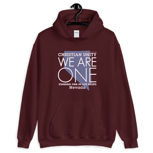 "(MAROON) CHRISTIAN UNITY ""WE ARE ONE"" UNISEX HEAVY BLEND HOODIE [NEVADA]"
