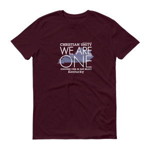 "(MAROON) CHRISTIAN UNITY ""WE ARE ONE"" UNISEX LIGHTWEIGHT T-SHIRT [KENTUCKY]"