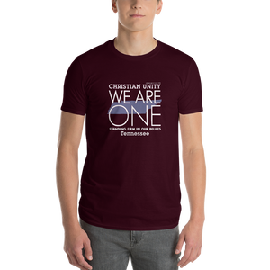 "(MAROON) CHRISTIAN UNITY ""WE ARE ONE"" UNISEX LIGHTWEIGHT T-SHIRT [TENNESSEE]"