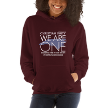 "Load image into Gallery viewer, (MAROON) CHRISTIAN UNITY ""WE ARE ONE"" UNISEX HEAVY BLEND HOODIE [NORTH CAROLINA]"
