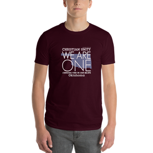"(MAROON) CHRISTIAN UNITY ""WE ARE ONE"" UNISEX LIGHTWEIGHT T-SHIRT [OKLAHOMA]"