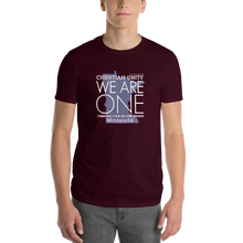 "Load image into Gallery viewer, (MAROON) CHRISTIAN UNITY ""WE ARE ONE"" UNISEX LIGHTWEIGHT T-SHIRT [MINNESOTA]"