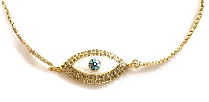 Eye trust you Gold necklace