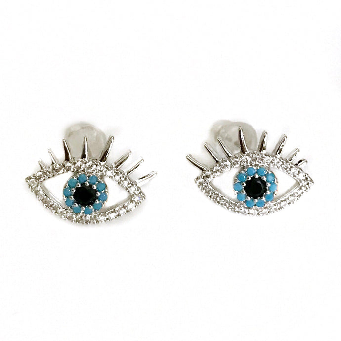 Crystal eye Silver Studs