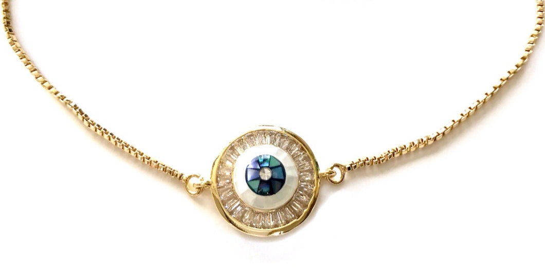 Eye adore you Gold necklace