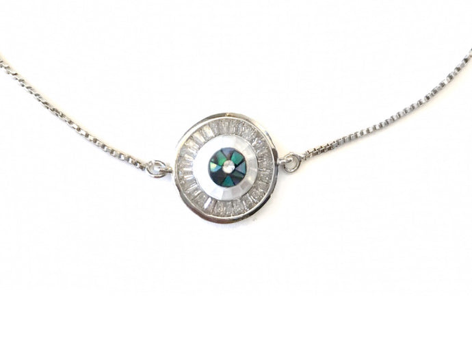 Eye adore you Silver necklace
