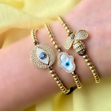 Eye love you Gold bracelet