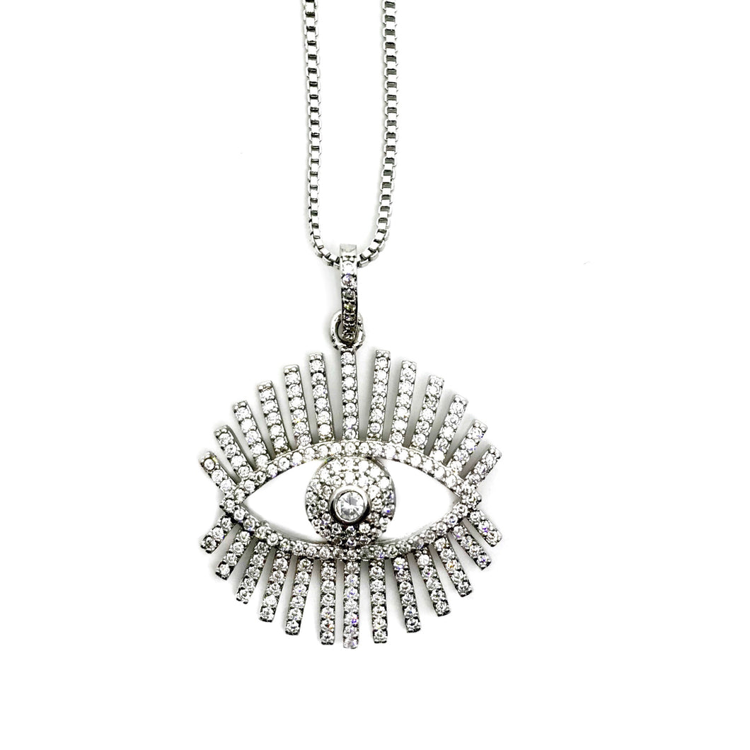 Pretty Eye Crystal Silver necklace