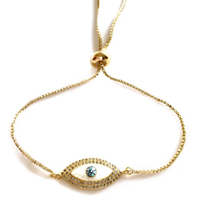 Eye trust you Gold bracelet