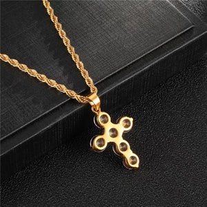 Statement Gold Cross Necklace