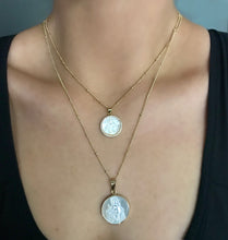 Our Lady Crystal pendant and two chains