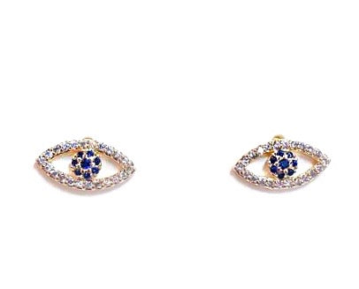 Blue Eye Gold Studs