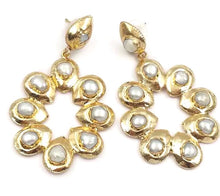 Natural Pearl statement earrings