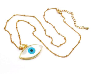 Large Shell eye necklace