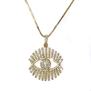 Pretty Eye Crystal Gold necklace