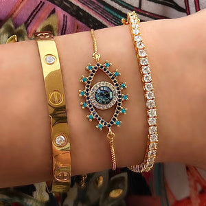 Pretty Eye Gold bracelet