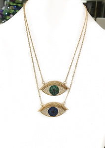 Large Pretty Blue eye pendant