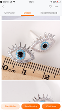 Crystal eye Silver