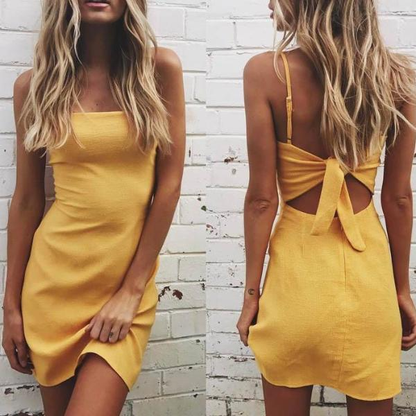 Carissa Tie Dress / Lemon