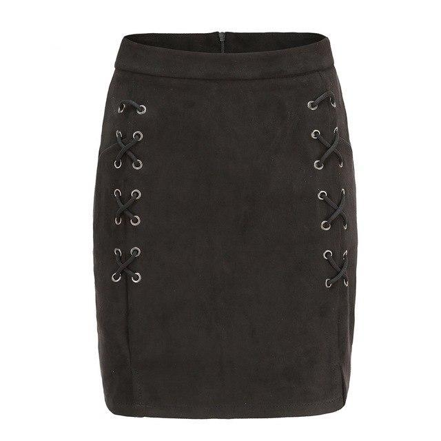 Lara Lace Skirt | Black