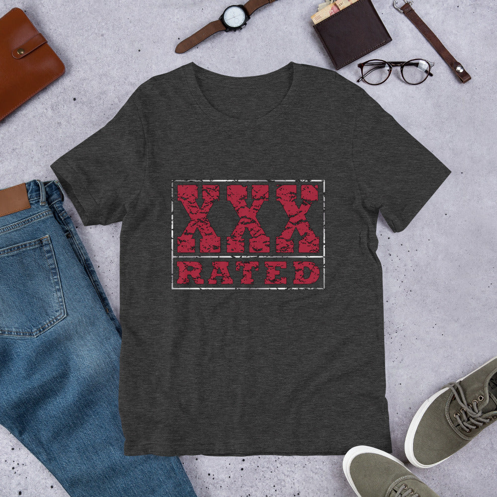 XXX-Rated Red Unisex T-Shirt