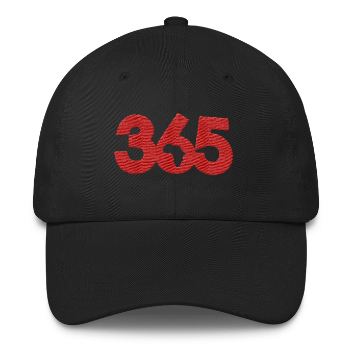 Black 365 Hat w/ Red