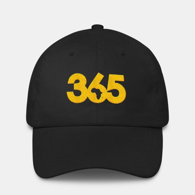 Black 365 Hat w/ Gold