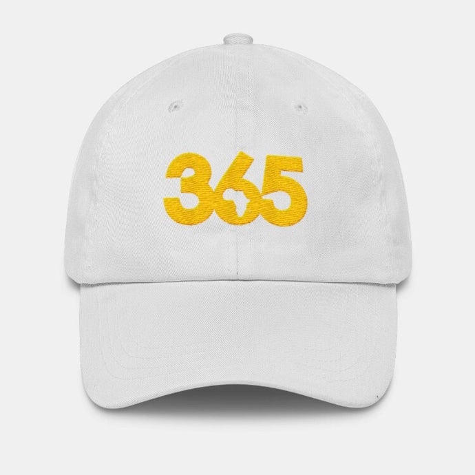 White 365 Hat w/ Gold
