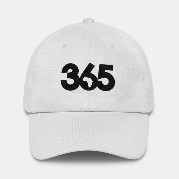 White 365 Hat w/ Black