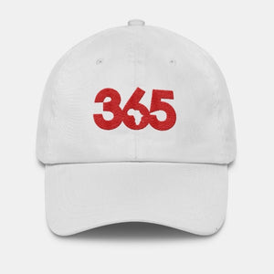White 365 Hat w/ Red