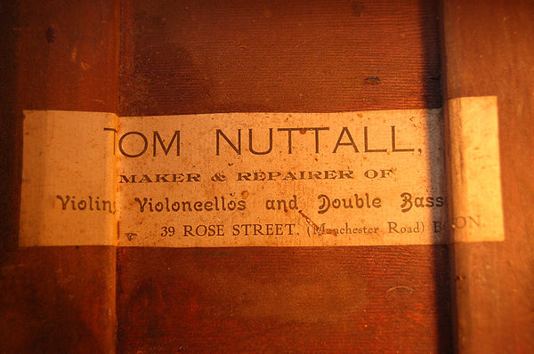 Tom Nuttall Bass inside label