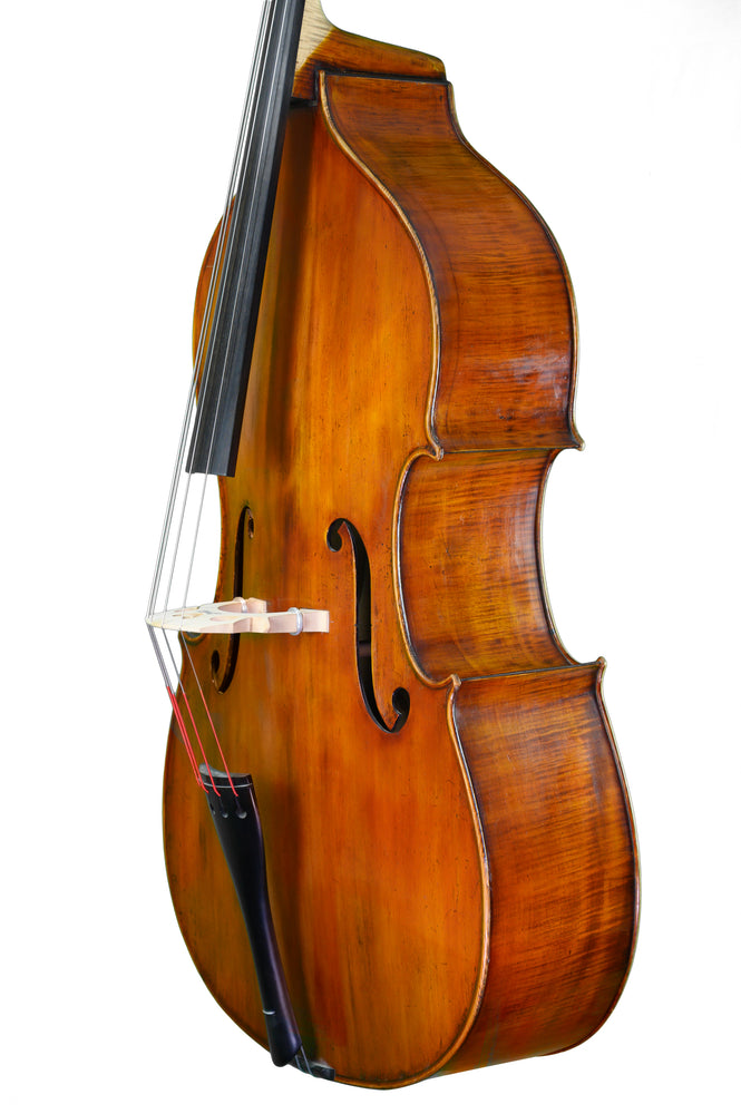 Hungarian Double Bass Labelled Luigi de Enthhke filii (sic) Gabriel, No17 anno 1971