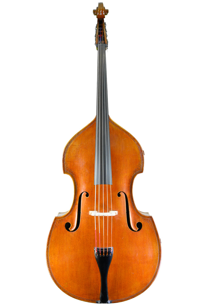 5-String Double Bass by Günter Krahmer-Pöllmann, Mittenwald anno 1965