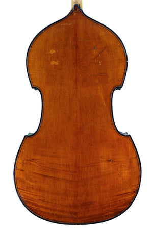 French Double Bass att to Gabriel Jacquet (Jacquet-Gand), Mirecourt circa 1880