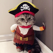 Load image into Gallery viewer, Funny Cat Clothes Pirate Suit Clothes For Cat Costume Clothing Corsair Halloween Clothes Dressing Up Cat Party Costume Suit 31A1