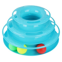 Load image into Gallery viewer, Funny Cat Pet Toy Cat Toys Intelligence Triple Play Disc Cat Toy Balls Cat Crazy Ball Disk Interactive Toy for IQ Traning