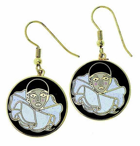 Earrings Pierrot Clown