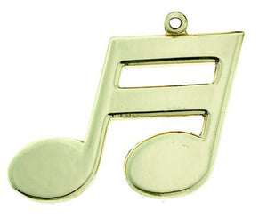 Keychain Double Note Polished Brass