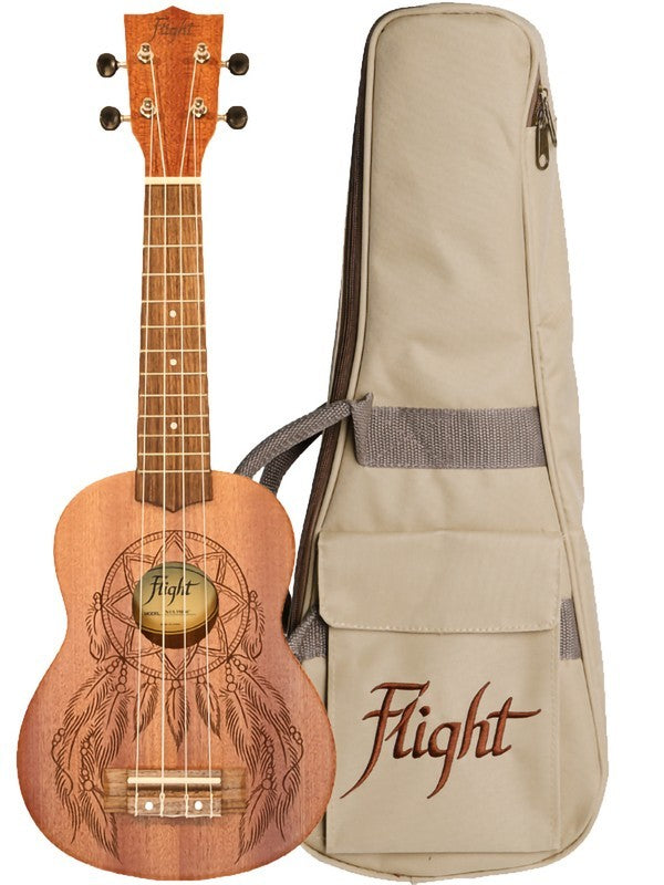 Flight NUS350DC Dreamcatcher Soprano Ukulele with Bag