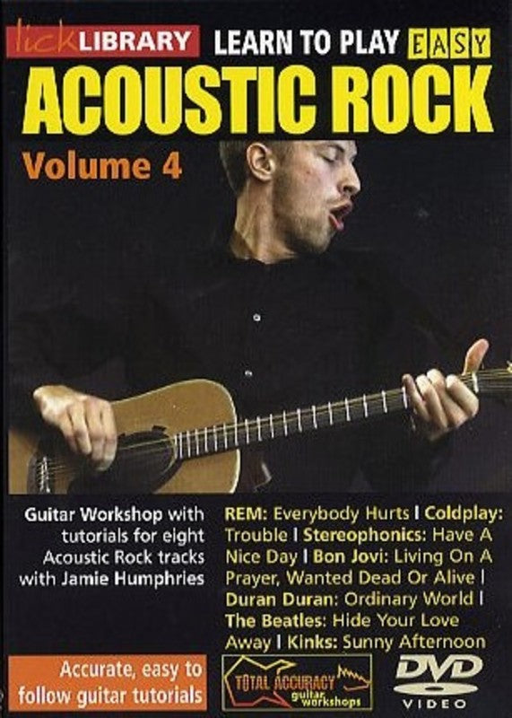 Learn To Play Easy Acoustic Rock 4 Dvd