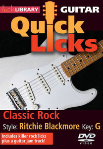 Guitar Quick Licks Classic Rock (R.Blackmore)Dvd