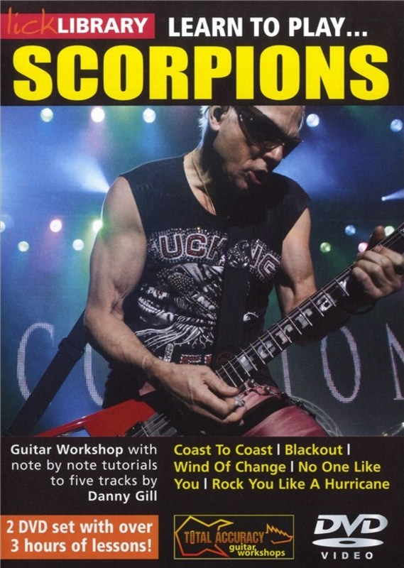 Learn To Play Scorpions 2Dvd