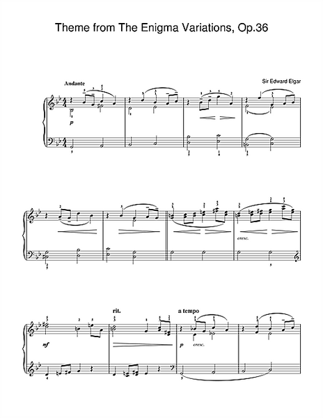 Theme from The Enigma Variations, Op.36