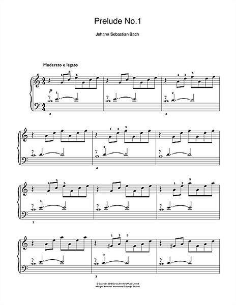 Prelude No.1 in C Major (from The Well-Tempered Clavier, Bk.1)